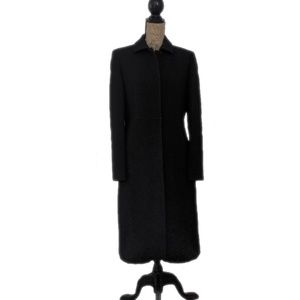 J. Crew Black Wool Long Fitted Peacoat size 10